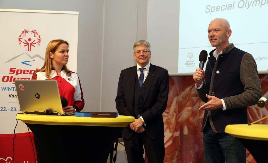 PK des Vereins Special Olympics, Herzschlag KŠrnten vor Beginn der Winterspiele 2020.