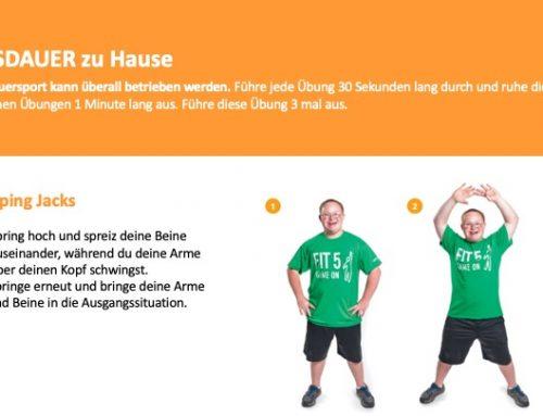 Zuhause fit bleiben – Trainingsvideos für unsere Athleten