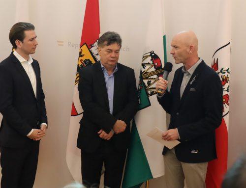 Bundeskanzler Kurz und Vizekanzler Kogler empfingen Special-Olympics-Athleten