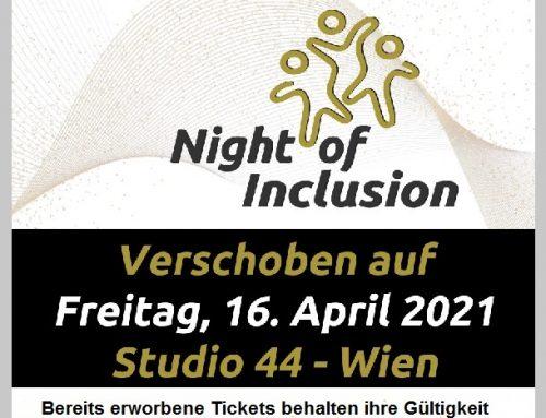 Night of Inclusion wird auf 2021 verschoben